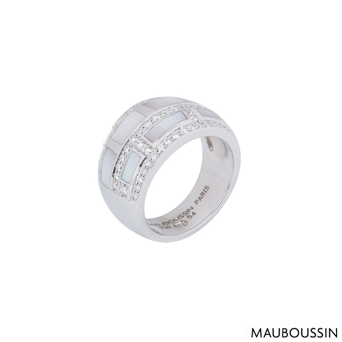 Mauboussin White Gold Le Vice Et La Verta Ring